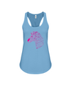 Tribal Zebra Print Tank-Top - Hot Pink/Purple - Ocean Blue / S - Clothing womens t-shirts zebras