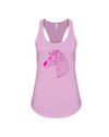 Tribal Zebra Print Tank-Top - Hot Pink/Purple - Soft Pink / S - Clothing womens t-shirts zebras