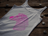 Tribal Zebra Print Tank-Top - Hot Pink/Purple - Clothing womens t-shirts zebras