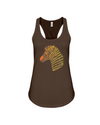 Tribal Zebra Print Tank-Top - Orange/Yellow - Chocolate / S - Clothing womens t-shirts zebras