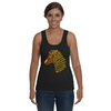 Tribal Zebra Print Tank-Top - Orange/Yellow - Clothing womens t-shirts zebras