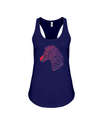 Tribal Zebra Print Tank-Top - Red/Purple - Navy / S - Clothing womens t-shirts zebras