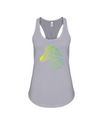 Tribal Zebra Print Tank-Top - Yellow/Green - Athletic Heather / S - Clothing womens t-shirts zebras