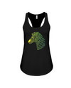 Tribal Zebra Print Tank-Top - Yellow/Green - Black / S - Clothing womens t-shirts zebras