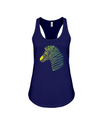 Tribal Zebra Print Tank-Top - Yellow/Green - Navy / S - Clothing womens t-shirts zebras