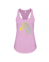 Tribal Zebra Print Tank-Top - Yellow/Green - Soft Pink / S - Clothing womens t-shirts zebras