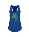 Tribal Zebra Print Tank-Top - Yellow/Green - True Royal / S - Clothing womens t-shirts zebras