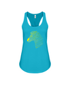 Tribal Zebra Print Tank-Top - Yellow/Green - Turquoise / S - Clothing womens t-shirts zebras