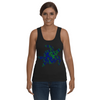 Turtle Word Cloud Tank-Top - Blue/Green - Clothing turtles womens t-shirts