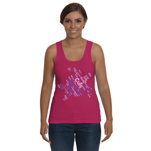 Turtle Word Cloud Tank-Top - Pink/Purple - Clothing turtles womens t-shirts