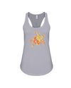 Turtle Word Cloud Tank-Top - Yellow/Orange - Athletic Heather / S - Clothing turtles womens t-shirts