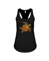 Turtle Word Cloud Tank-Top - Yellow/Orange - Black / S - Clothing turtles womens t-shirts