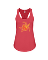Turtle Word Cloud Tank-Top - Yellow/Orange - Red / S - Clothing turtles womens t-shirts