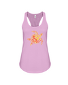 Turtle Word Cloud Tank-Top - Yellow/Orange - Soft Pink / S - Clothing turtles womens t-shirts