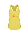 Turtle Word Cloud Tank-Top - Yellow/Orange - Yellow / S - Clothing turtles womens t-shirts