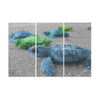 Turtles On The Beach - Canvas Wall Art - Blue Green Turtles - Wall Art canvas prints turtles