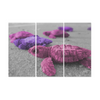 Turtles On The Beach - Canvas Wall Art - Pink Purple Turtles - Wall Art canvas prints turtles