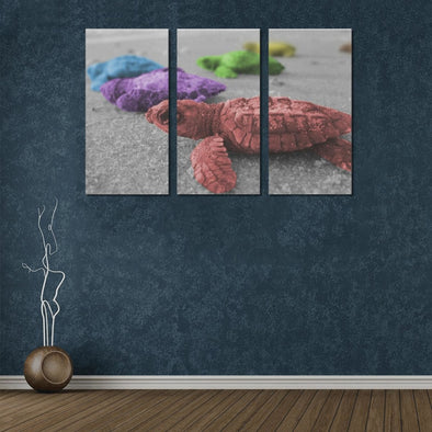 Turtles On The Beach - Canvas Wall Art - Wall Art canvas prints turtles