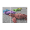 Turtles On The Beach - Canvas Wall Art - Rainbow Turtles - Wall Art canvas prints turtles