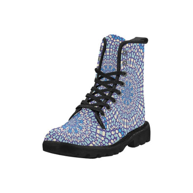 Womens Ankle Boots - Custom Designed Mandala Patterns - Footwear ankle boots boots mandalas