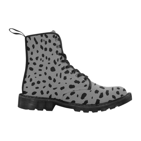 Womens Canvas Ankle Boots - Custom Cheetah Pattern - Footwear ankle boots boots cheetahs