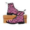 Womens Canvas Ankle Boots - Custom Tiger Pattern - US6.5 / Hot Pink Tiger - Footwear ankle boots big cats boots tigers