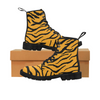Womens Canvas Ankle Boots - Custom Tiger Pattern - US6.5 / Orange Tiger - Footwear ankle boots big cats boots tigers