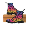 Womens Canvas Ankle Boots - Custom Tiger Pattern - US6.5 / Rainbow Tiger - Footwear ankle boots big cats boots tigers