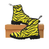 Womens Canvas Ankle Boots - Custom Tiger Pattern - US6.5 / Yellow Tiger - Footwear ankle boots big cats boots tigers