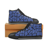 Womens Chucks High Top Sneakers - Custom Giraffe Pattern w/Black Background - Blue Giraffe / US6 - Footwear chucks sneakers giraffes