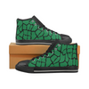 Womens Chucks High Top Sneakers - Custom Giraffe Pattern w/Black Background - Green Giraffe / US6 - Footwear chucks sneakers giraffes
