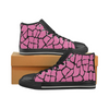 Womens Chucks High Top Sneakers - Custom Giraffe Pattern w/Black Background - Hot Pink Giraffe / US6 - Footwear chucks sneakers giraffes