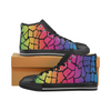 Womens Chucks High Top Sneakers - Custom Giraffe Pattern w/Black Background - Rainbow Giraffe / US6 - Footwear chucks sneakers giraffes