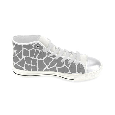 Womens Chucks High Top Sneakers - Custom Giraffe Pattern w/White Background - Footwear chucks sneakers giraffes sneakers
