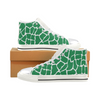 Womens Chucks High Top Sneakers - Custom Giraffe Pattern w/White Background - Green Giraffe / US6 - Footwear chucks sneakers giraffes