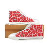 Womens Chucks High Top Sneakers - Custom Giraffe Pattern w/White Background - Red Giraffe / US6 - Footwear chucks sneakers giraffes sneakers