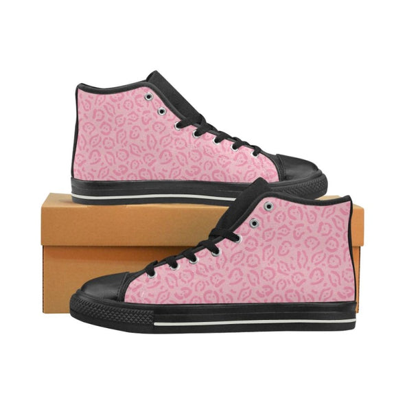 Womens Chucks High Top Sneakers - Custom Jaguar Pattern - US6 / Woman / Hot Pink Jaguar - Footwear big cats chucks sneakers jaguars sneakers