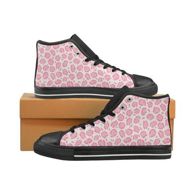 Womens Chucks High Top Sneakers - Custom Jaguar Pattern - US6 / Woman / Pink Jaguar - Footwear big cats chucks sneakers jaguars sneakers