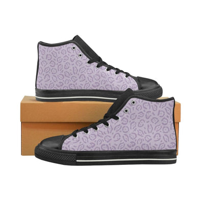 Womens Chucks High Top Sneakers - Custom Jaguar Pattern - US6 / Woman / Purple Jaguar - Footwear big cats chucks sneakers jaguars sneakers