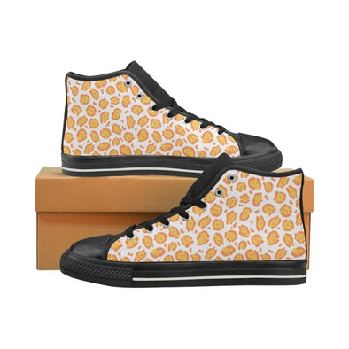 Womens Chucks High Top Sneakers - Custom Jaguar Pattern - US6 / Woman / Yellow Orange Jaguar - Footwear big cats chucks sneakers jaguars