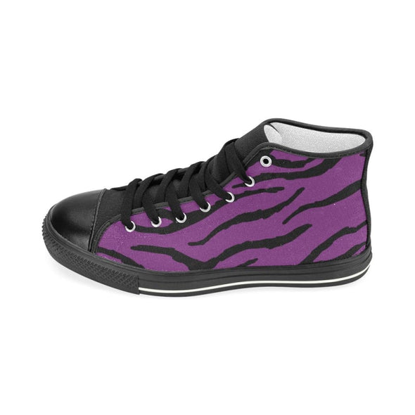 Womens Chucks High Top Sneakers - Custom Tiger Pattern - Footwear big cats chucks sneakers sneakers tigers