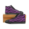 Womens Chucks High Top Sneakers - Custom Tiger Pattern - Purple Tiger / US6 - Footwear big cats chucks sneakers sneakers tigers