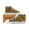 Womens Chucks High Top Sneakers - Custom Zebra Pattern w/White Background - Orange Zebra / US6 - Footwear chucks sneakers sneakers zebras