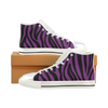 Womens Chucks High Top Sneakers - Custom Zebra Pattern w/White Background - Purple Zebra / US6 - Footwear chucks sneakers sneakers zebras