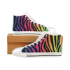 Womens Chucks High Top Sneakers - Custom Zebra Pattern w/White Background - Rainbow Zebra / US6 - Footwear chucks sneakers sneakers zebras