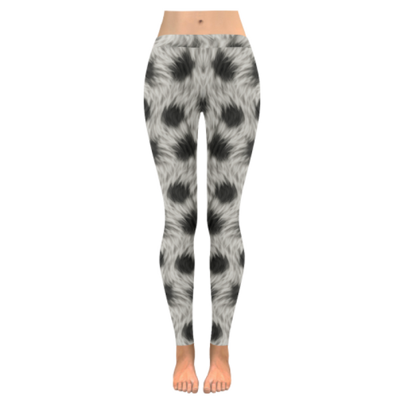 Womens Premium Leggings - Custom Animal Fur Prints - Black and White Fur Print / S - Clothing hot new items leggings yoga gear