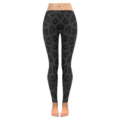 Womens Premium Leggings - Custom Animal Fur Prints - Black Panther Fur Print / S - Clothing hot new items leggings yoga gear