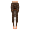 Womens Premium Leggings - Custom Animal Fur Prints - Dark Brown Fur Print / S - Clothing hot new items leggings yoga gear
