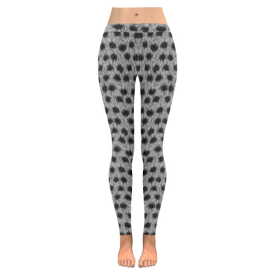 Womens Premium Leggings - Custom Animal Fur Prints - Gray Leopard Fur Print / S - Clothing hot new items leggings yoga gear