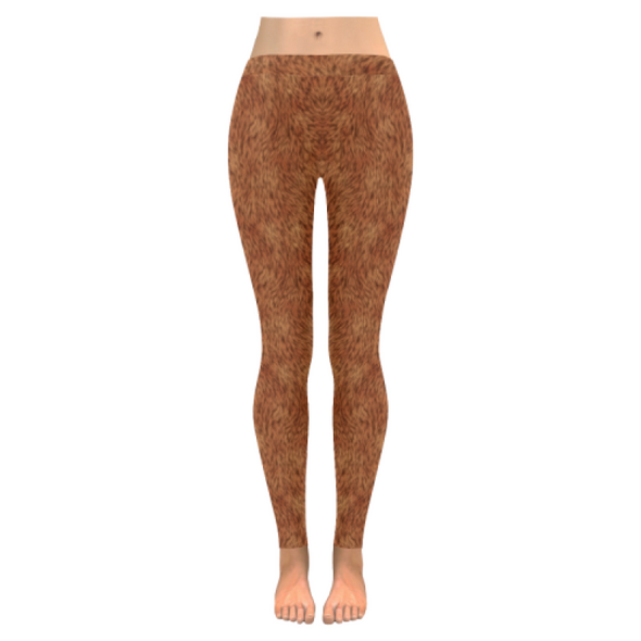 Womens Premium Leggings - Custom Animal Fur Prints - Orange Fur Print / S - Clothing hot new items leggings yoga gear